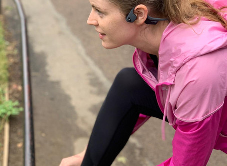 The best headphones for safety and awareness whilst working out in public.