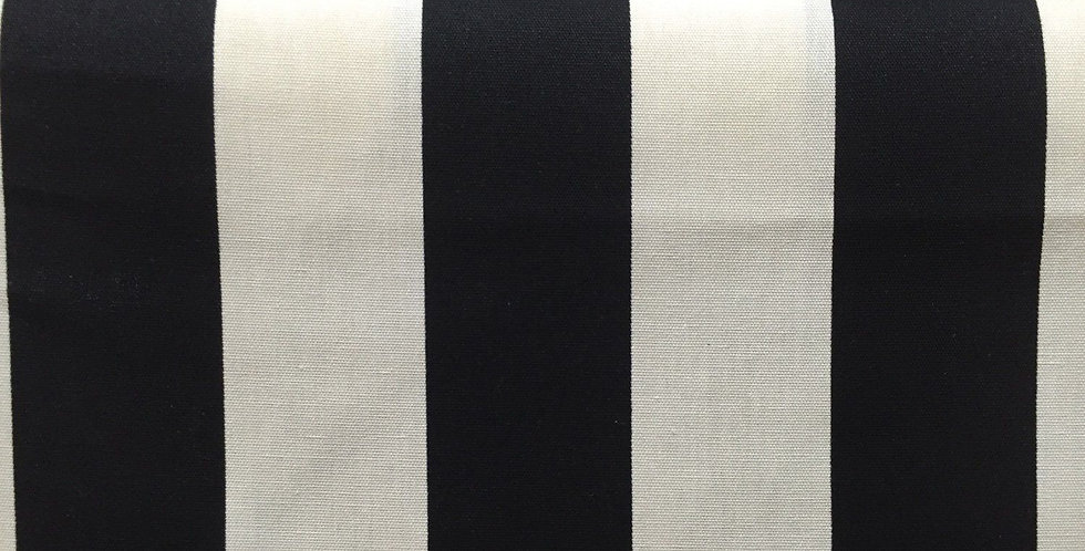 Outdoor - Black and Cream - Wide Stripe