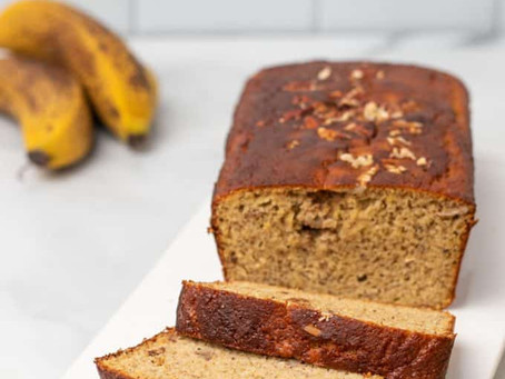 LOW CARB BANANA BREAD (GLUTEN FREE & NO SUGAR)