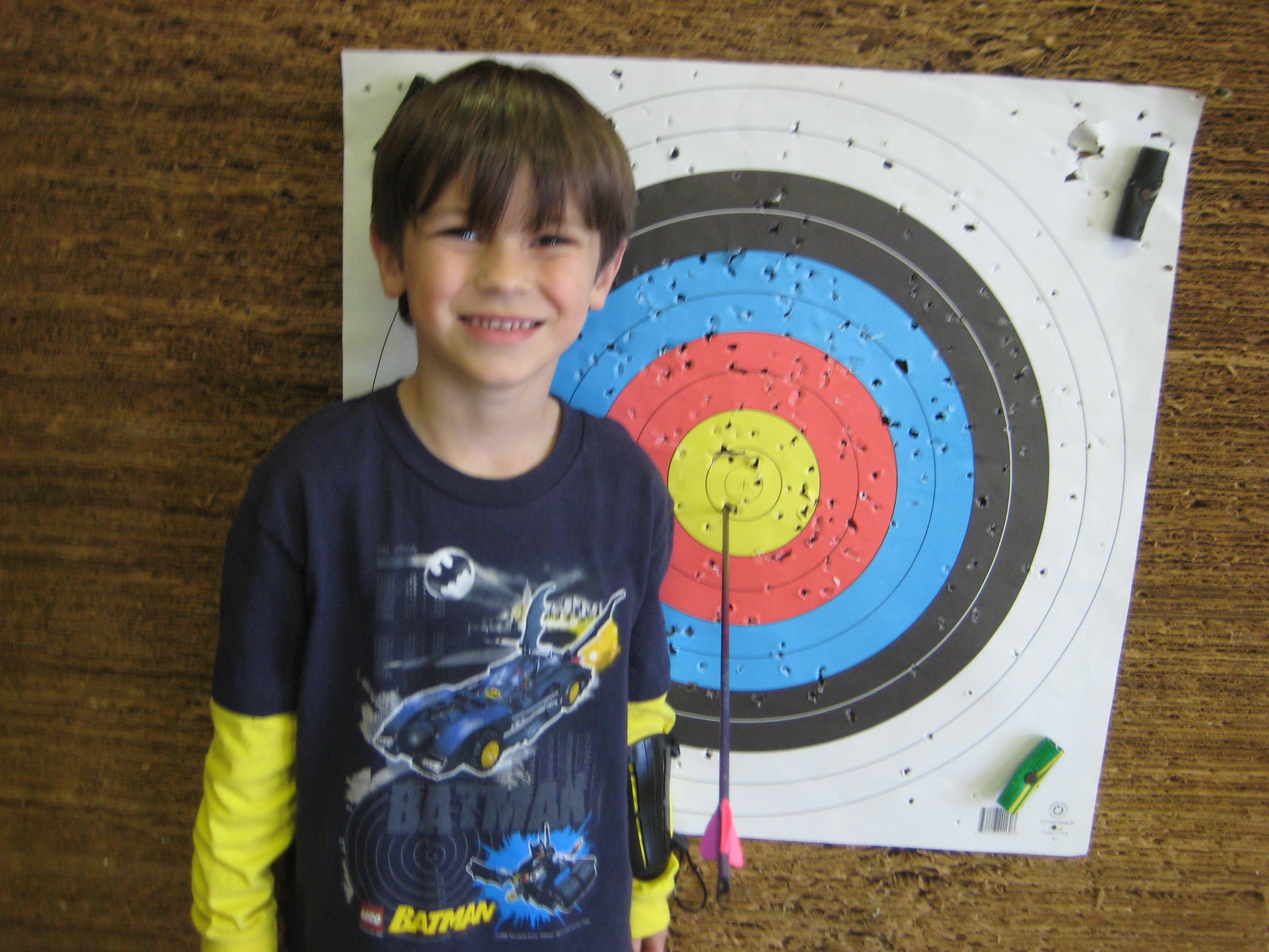 I shot a bullseye!