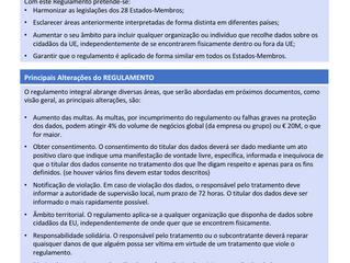 Overview sobre o GDPR - Regulamento Geral Proteção de Dados