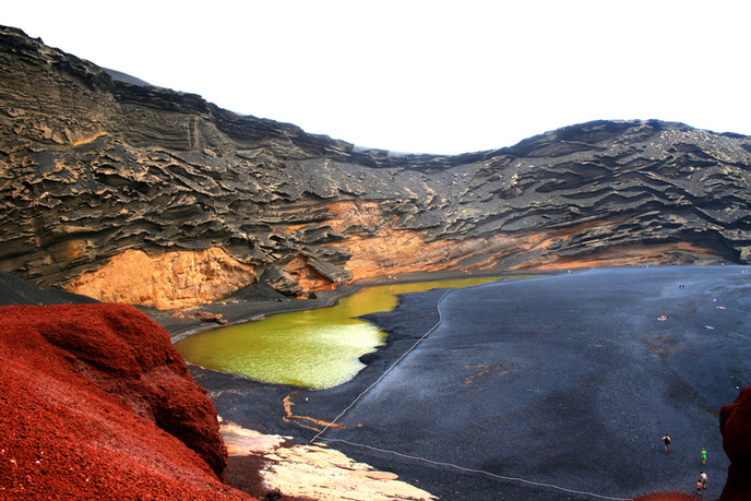 Volcanic activity and black sand beaches at the Canary Islands