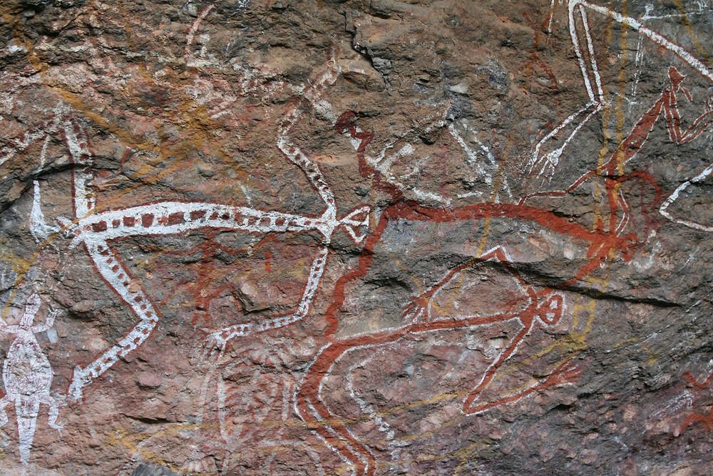 Rock art at Nourlangie