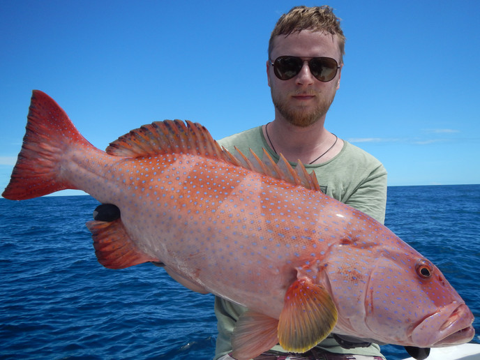 Coral Trout and a proud fisherman