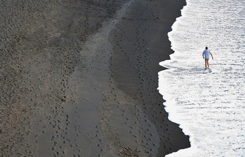 Black sand beaches on Fuerteventura