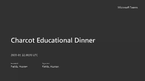 Charcot Educational Dinner