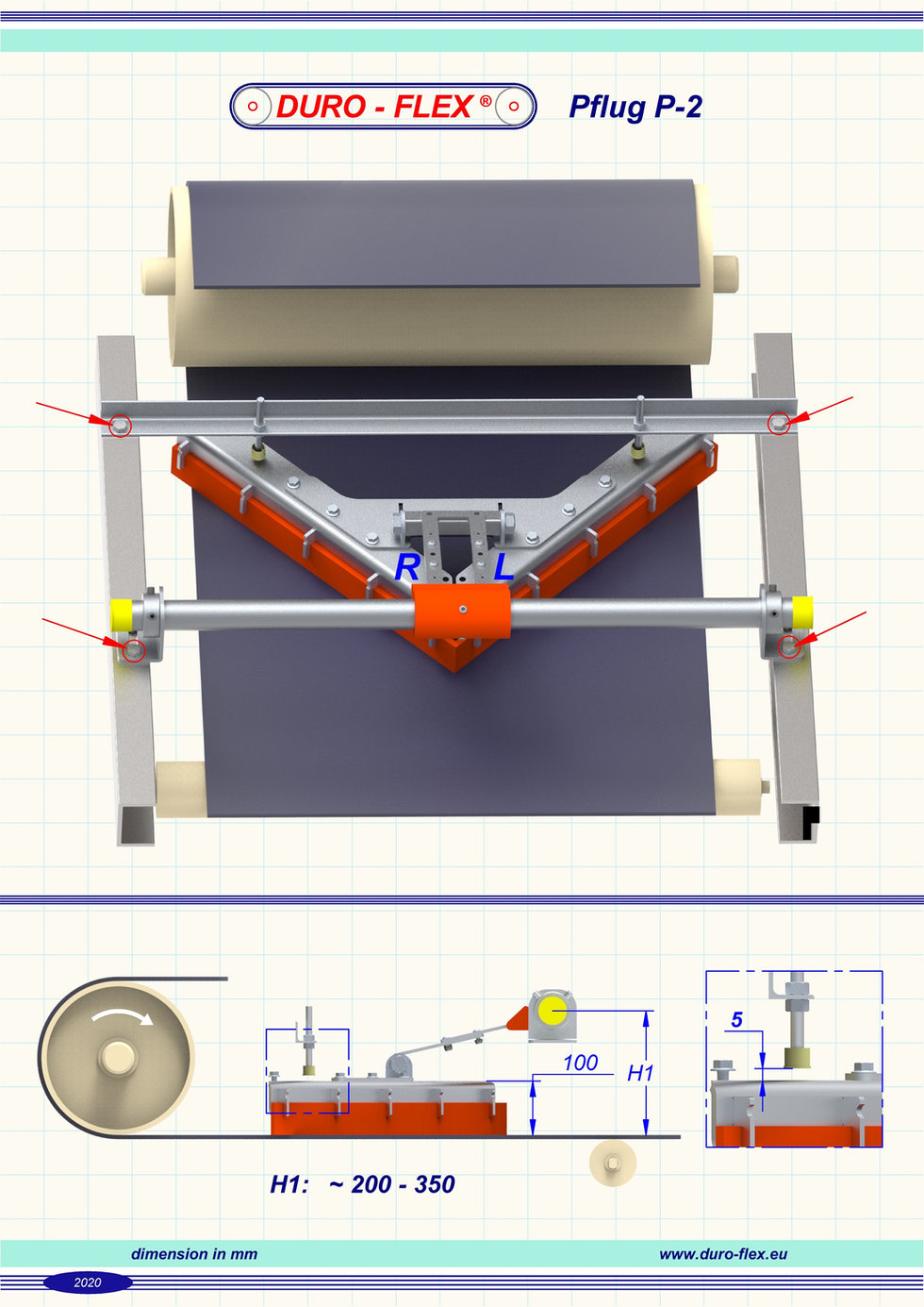 Typenliste Pflug P-2 inkl. Ersatzschaber
