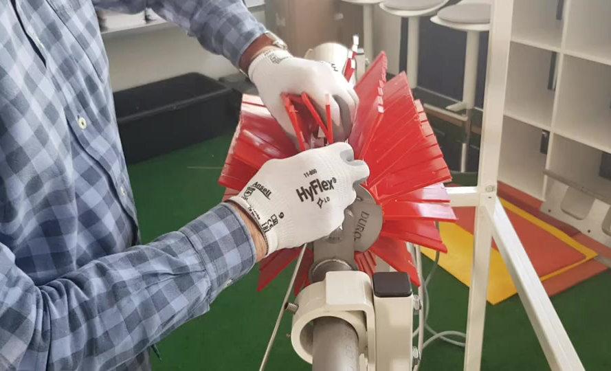 Montage der PU-Bürstenelem