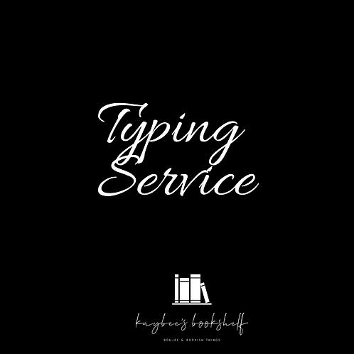 Typing/Transcription Service