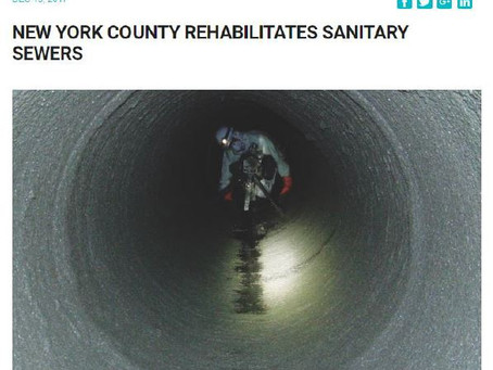 New York county rehabilitates sanitary sewers