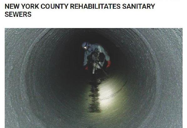 New York county rehabilitates sanitary sewers