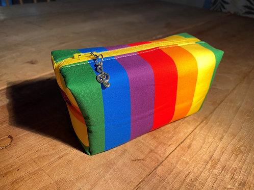Boxy Rainbow zipped pouch