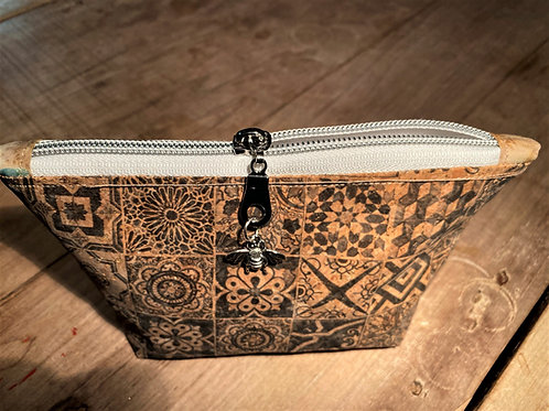 Cork leather Make-up bag (small)
