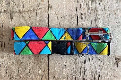 Dog Collar and  Lead (Harlequin)