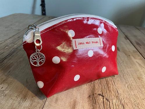 Red Dotty Make-Up bag