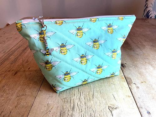 Personalised Bee Wash Bag - Mint
