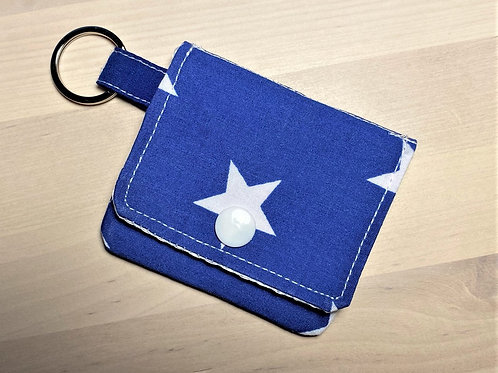 Earbud / Coin Pouch  (Blue/ While Star)