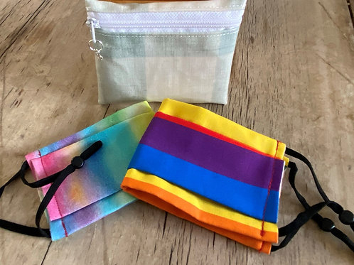 Get ready for pride! BeeSafe Purse + 2 face masks (2 x Rainbow designs)