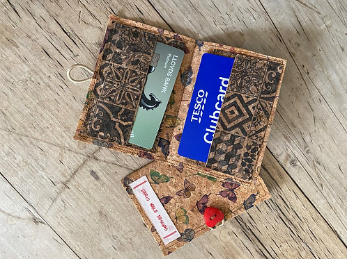 Cork Leather Card Wallet