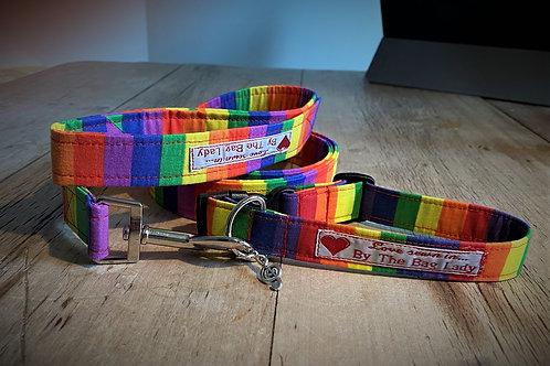 Collar and Dog Lead Combo (Rainbow)