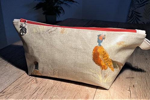 Pleasant Pheasant Wash/Make-up Bag