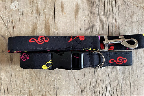 Dog Collar and Lead  (Musical Notes)