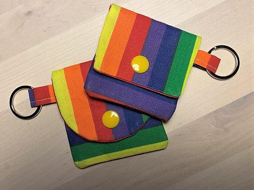 Earbud / Coin Pouch  (Rainbow)