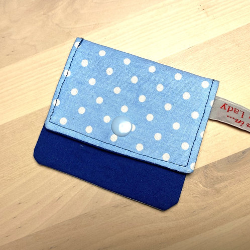 Earbud / Coin Pouch (Dotty Blue)