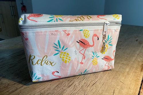 Flamingo zipped pouch.. (Medium)