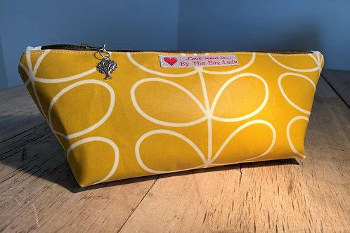 Wash Bag in Mustard (Orla Keily design fabric)