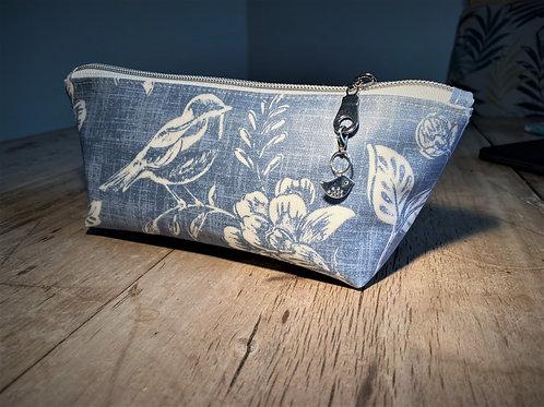 Blue Bird Make-Up Bag