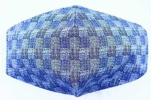 Mascarilla Cuadros Azul