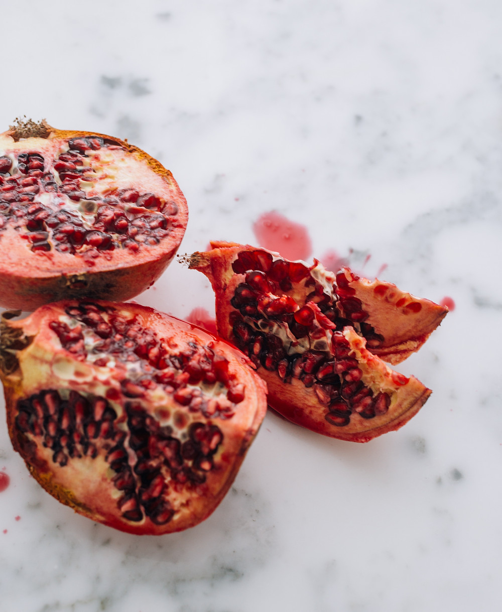 food photography, pomegranate