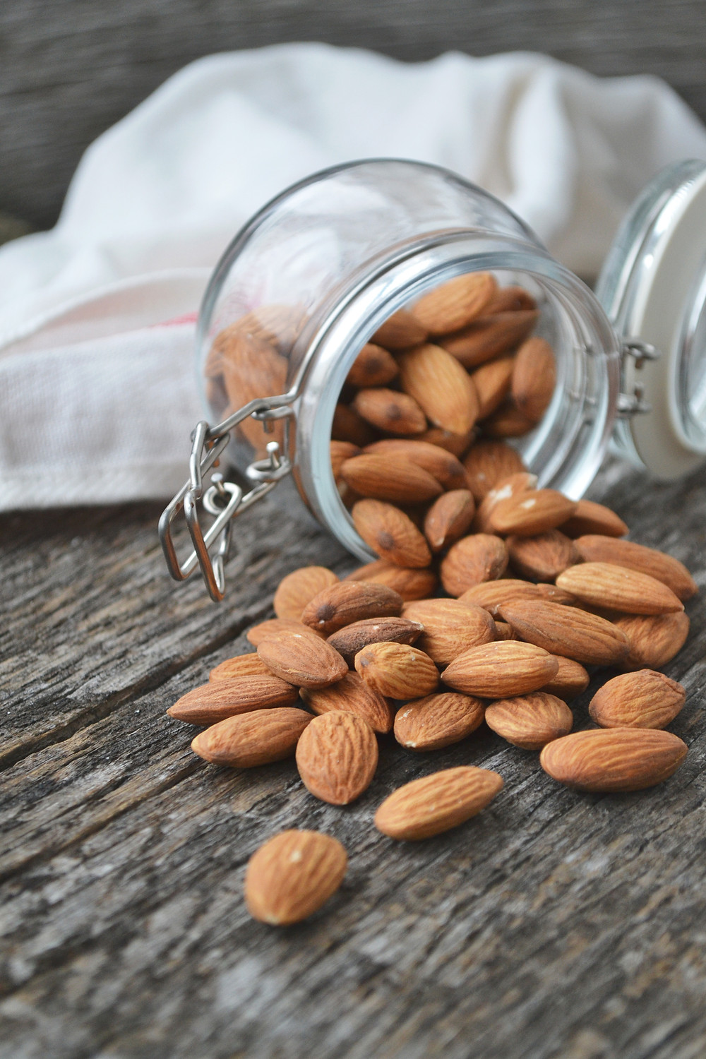 Almonds food photography