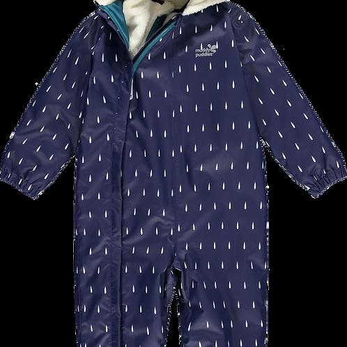 3 in 1 Snowsuit - Navy Raindrops