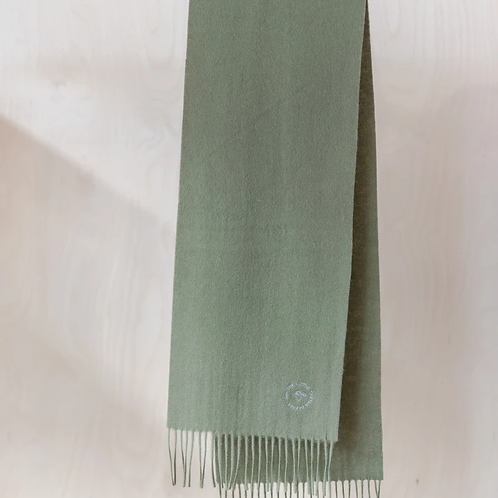 Lambswool Kids Scarf   Olive Green