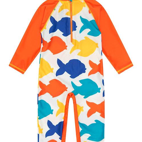 Sunsafe Surf Swimsuit │ White Fish