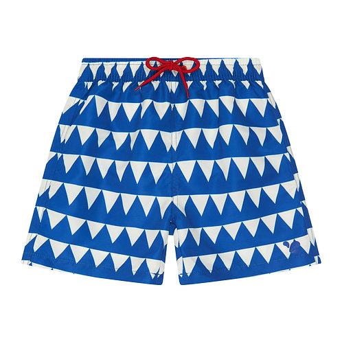 Swim Shorts │ Blue Triangles