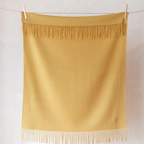 Lambswool Baby Blanket | Mustard