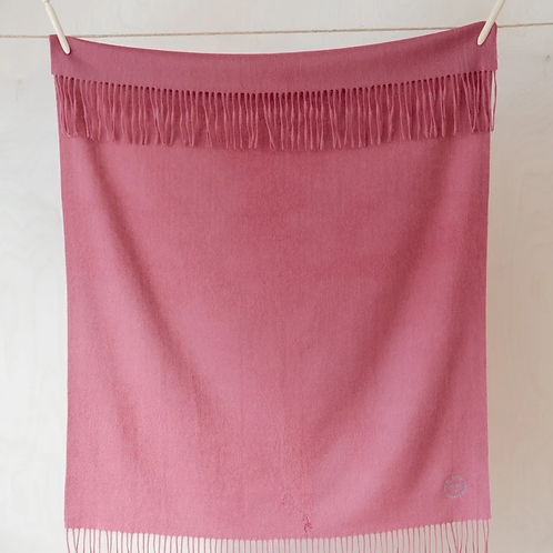 Lambswool Baby Blanket | Rose