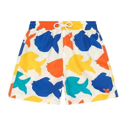 Swim Shorts │ White Fish