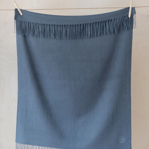 Lambswool Baby Blanket   Slate Grey