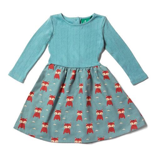 Little Twirler Dress - Night Time Foxes