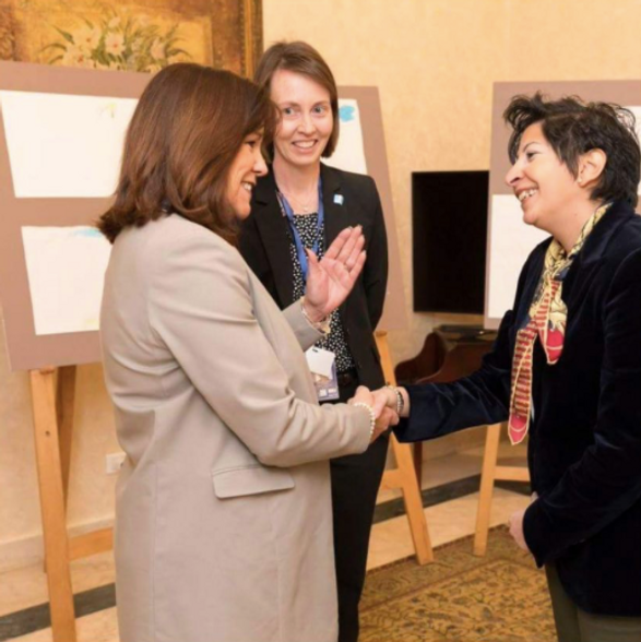 Carol Hammal Art Therapist with US second lady Mrs. Pence
