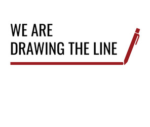 WE ARE DRAWING THE LINE Blank Tile