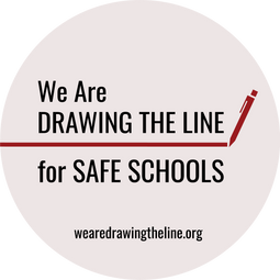 Social Media Profile Image - We are DRAWING THE LINE for SAFE SCHOOLS wearedrawingtheline.org
