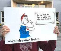 We are Drawing the Line Selfie
