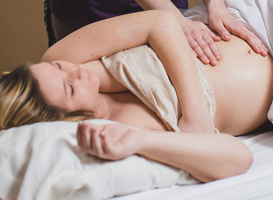 Person receiving a massage.