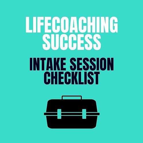 Life Coaching Intake Session Checklist