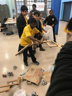 Students using their machines